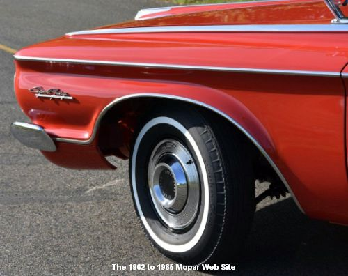 1962 Plymouth Sport Fury, driver front fender