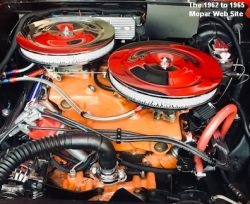 1962 Dodge Polara 500, engine with 14 inch air cleaners
