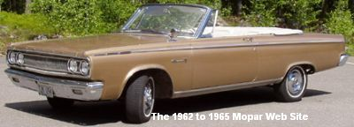 1965 Dodge Coronet 500 convertible, driver front side