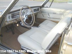 1965 Dodge Coronet 500 convertible, interior