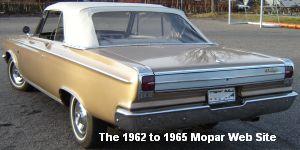 1965 Dodge Coronet 500 convertible, rear view